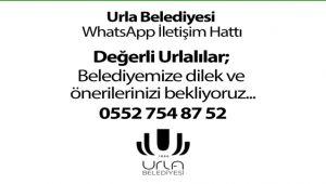 Urla Belediyesi WhatsApp İletişim Hattı açıldı