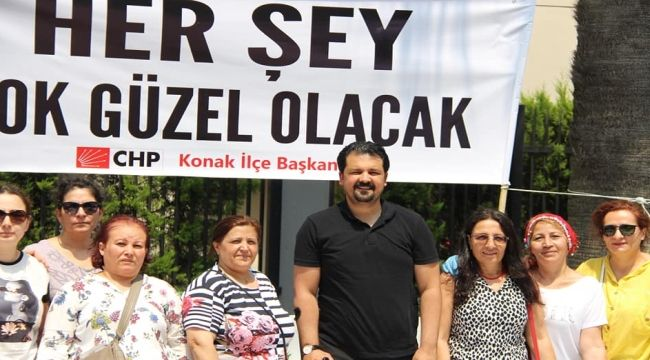 CHP Konak'tan Ekrem İmamoğlu'na destek!