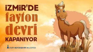 İzmir'de fayton dönemi kapandı