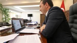 Başkan Koştu eğitim camiasıyla telekonferansla bir araya geldi