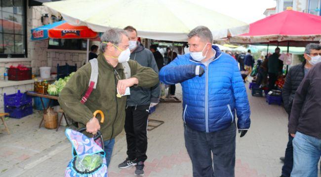 Başkan Oran'dan Pazar denetimi
