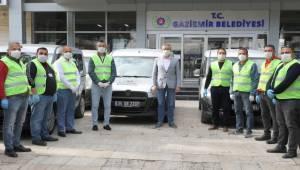 Gaziemir Belediyesi'nin araçları geri gönderildi