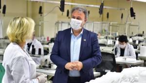 Bornova Belediyesi maske üretiminde vites büyüttü