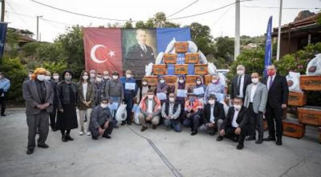 Büyükşehir'in üreticiye desteği sürüyor