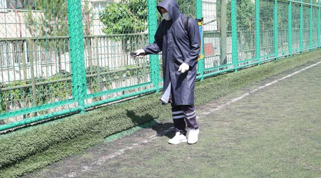 Amatör spor kulüplerinin tesisleri dezenfekte edildi