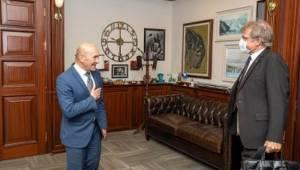 Almanya'nın İzmir Başkonsolosu'ndan Soyer'e veda ziyareti