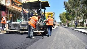 Pınarbaşına 12,5 ton asfalt