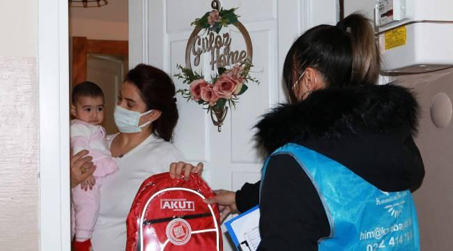 Acil durum çantaları dağıtıldı