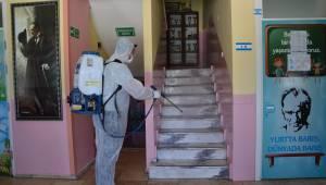 Dikili'de Okullarda Korona Temizliği